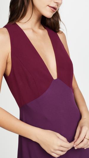 V Neck Two Tone Gown Jill Stuart