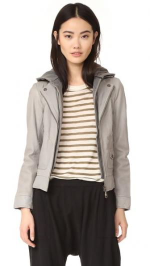 Байкерская куртка Clash Doma. Цвет: серый туман