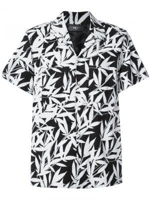 Рубашка с короткими рукавами и тропическим принтом Amiri. Цвет: чёрный