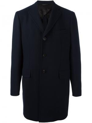 Пальто с застежкой на пуговицы Tonello. Цвет: синий