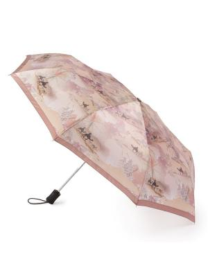 Зонт женский автомат Henry Backer Путешествие. Цвет: бежевый
