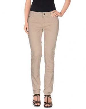 Джинсовые брюки LALTRAMODA. Цвет: бежевый