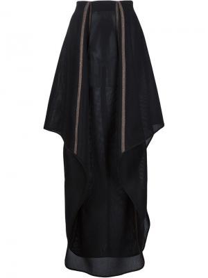 Асимметричная юбка в сетку Dominic Louis. Цвет: чёрный