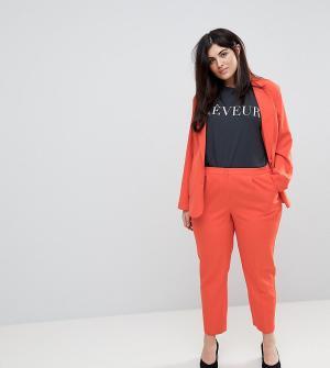 Unique 21 Hero Plus Комбинируемые брюки-сигареты. Цвет: оранжевый