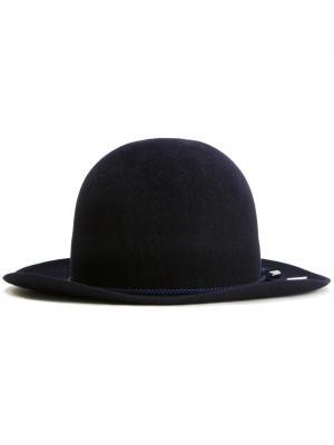 Фетровая шляпа-котелок Kijima Takayuki. Цвет: синий