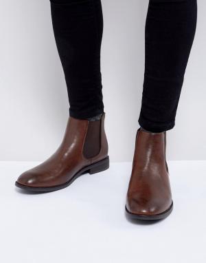 New Look Коричневые ботинки челси с эластичными вставками сбоку. Цвет: коричневый