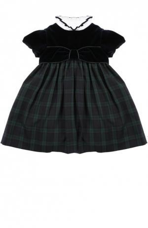 Платье со съемным воротником Caf. Цвет: синий