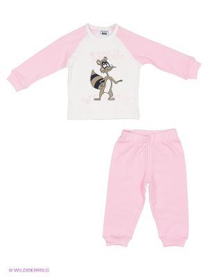 Пижама MANAI. Цвет: бледно-розовый, белый
