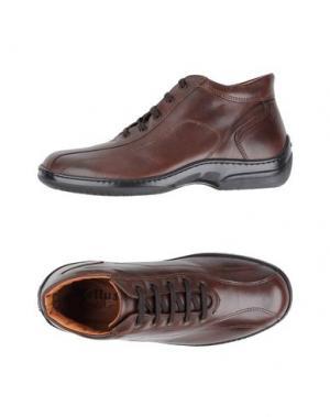 Высокие кеды и кроссовки MELLUSO. Цвет: какао