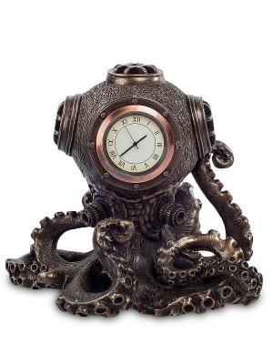 Статуэтка-часы в стиле Стимпанк Осьминог Veronese. Цвет: бронзовый