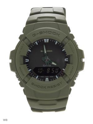 Часы G-Shock G-100CU-3A CASIO. Цвет: хаки
