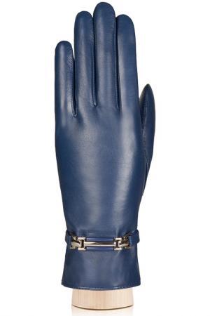 Перчатки Labbra. Цвет: синий
