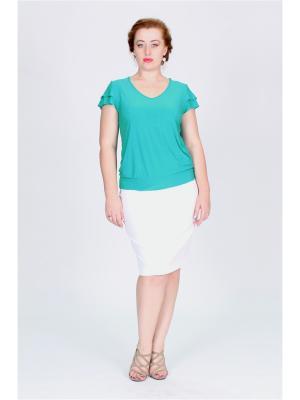 Блузка Pelagueya. Цвет: лазурный