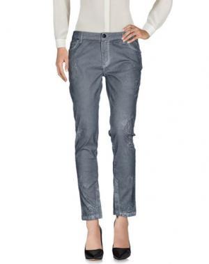 Повседневные брюки TOM REBL. Цвет: серый