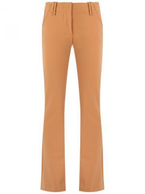 Прямые брюки Gloria Coelho. Цвет: жёлтый и оранжевый