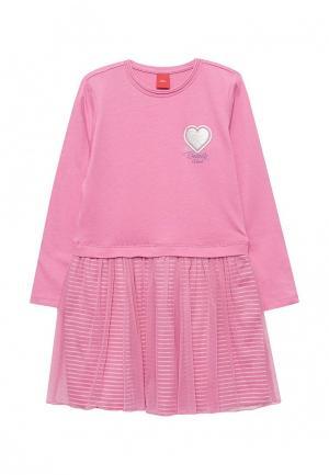 Платье s.Oliver. Цвет: розовый
