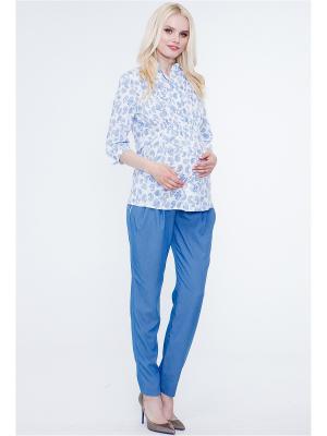 Блузка TUTTA MAMA. Цвет: белый, голубой