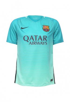Футболка спортивная Nike. Цвет: бирюзовый
