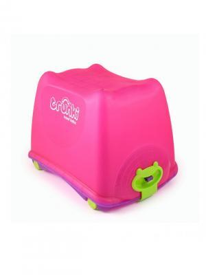 Ящик для игрушек TRUNKI. Цвет: салатовый, сиреневый, розовый