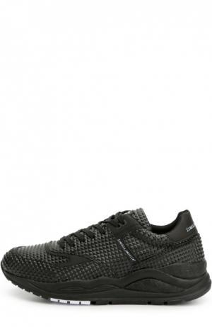 Кроссовки с кожаной отделкой на многослойной подошве Frankie Morello. Цвет: черный