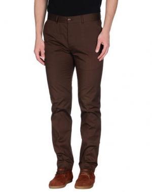Повседневные брюки GENTRYPORTOFINO. Цвет: какао