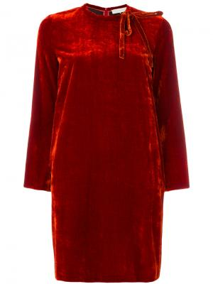 Платье с длинными рукавами LAutre Chose L'Autre. Цвет: жёлтый и оранжевый