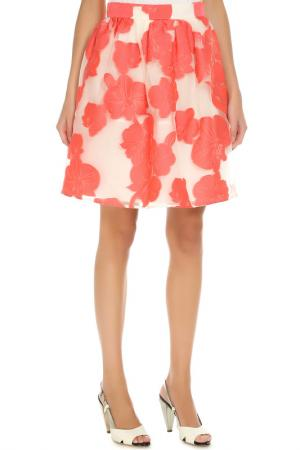 Юбка P.A.R.O.S.H.. Цвет: белый, розовый