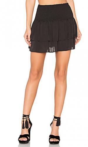 Мини юбка со сборками Eight Sixty. Цвет: черный