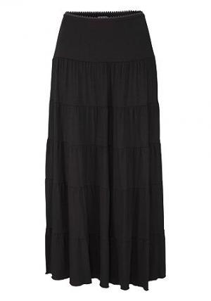 Длинная пляжная юбка BEACHTIME. Цвет: чёрный