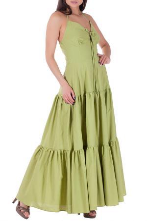 Платье Mannon. Цвет: зеленый