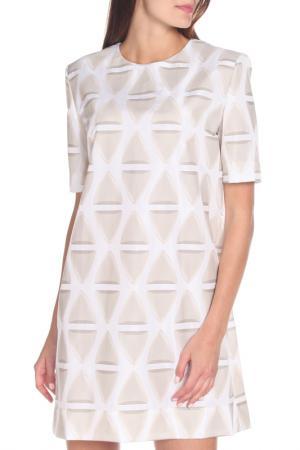 Платье Marni. Цвет: белый, бежевый