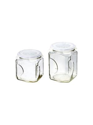 Контейнеры для сыпучих Glasslock IG-671 набор 2 шт. Цвет: прозрачный