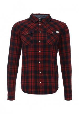 Рубашка Blend. Цвет: красный
