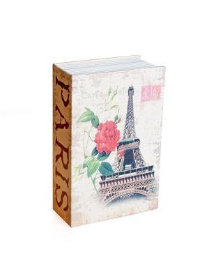 Сейф - книга Эйфелева башня Aztek. Цвет: серый, коричневый, красный
