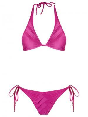 Triangle bikini set Amir Slama. Цвет: розовый и фиолетовый