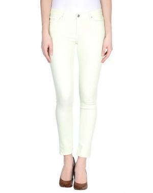 Джинсовые брюки AG ADRIANO GOLDSCHMIED. Цвет: кислотно-зеленый