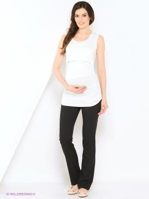 Брюки для беременных 40 недель. Цвет: черный