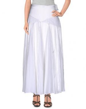 Длинная юбка ANGELA MELE MILANO. Цвет: белый