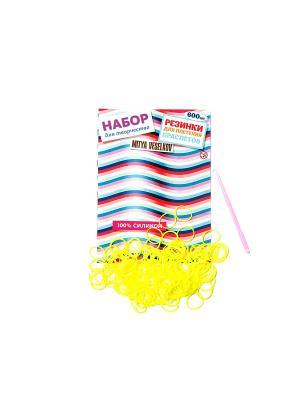 Резиночки для плетения браслетов Mitya Veselkov. Цвет: желтый
