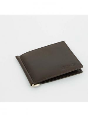 Портмоне  с клипом для денег S.QUIRE. Цвет: коричневый
