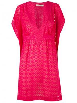 Textured sheer beach dress Blue Man. Цвет: розовый и фиолетовый