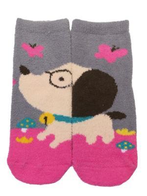Носки махровые HOBBY LINE. Цвет: серый, розовый