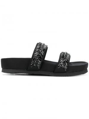 Декорированные сандалии Suecomma Bonnie. Цвет: чёрный