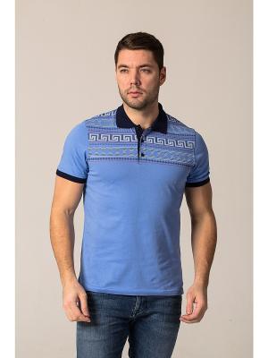 Рубашка John Jeniford. Цвет: голубой, темно-синий
