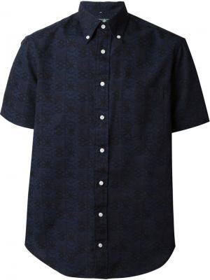 Рубашка с короткими рукавами Gitman Vintage. Цвет: синий