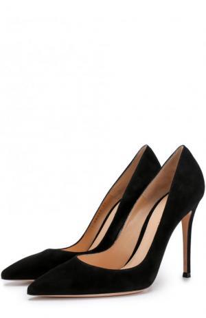 Замшевые туфли Gianvito 105 на шапильке Rossi. Цвет: черный
