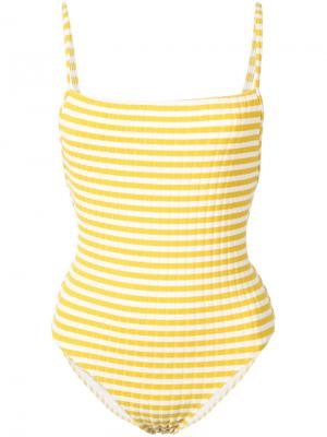 Слитный купальник  Chelsea Solid & Striped. Цвет: белый