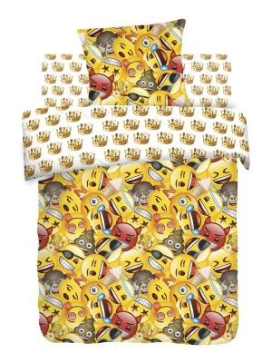 Постельное белье Emoji Эмоджи Смайлы, 1.5 Непоседа. Цвет: желтый