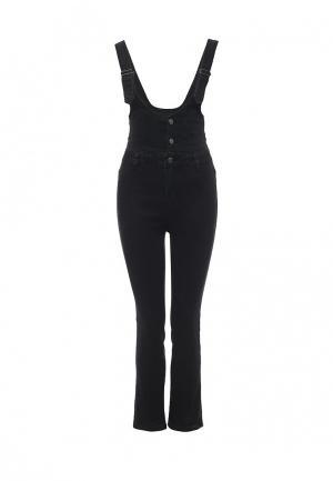 Комбинезон джинсовый Noisy May. Цвет: черный