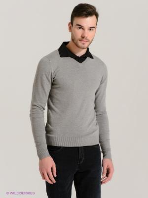Пуловер Fresh. Цвет: серый, черный